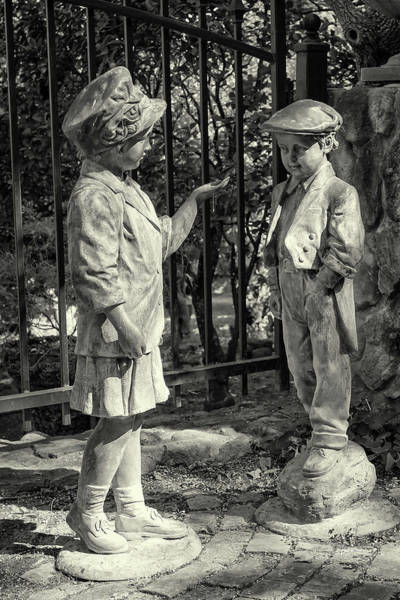 Photograph - Garden Figures Bw by Jim Thompson