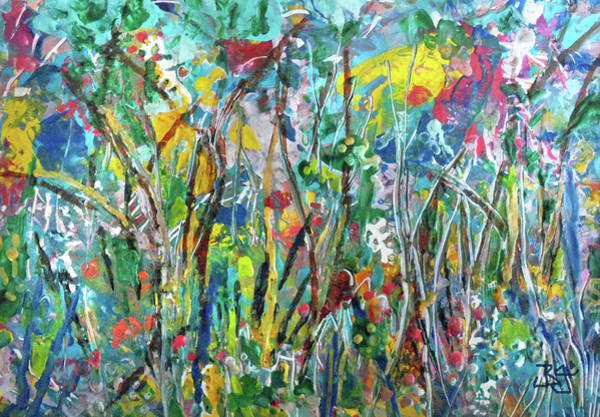Painting - Garden Flourish by Jean Batzell Fitzgerald