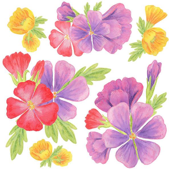 Painting - Garden Flowers Dance by Irina Sztukowski