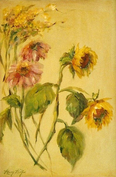 Painting - Garden Flowers by Mary Wolf