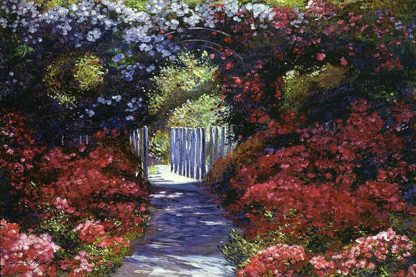 White Picket Fence Painting - Garden For Dreamers by David Lloyd Glover