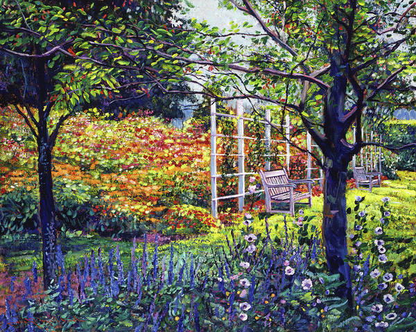 Arbor Wall Art - Painting - Garden For Dreaming by David Lloyd Glover