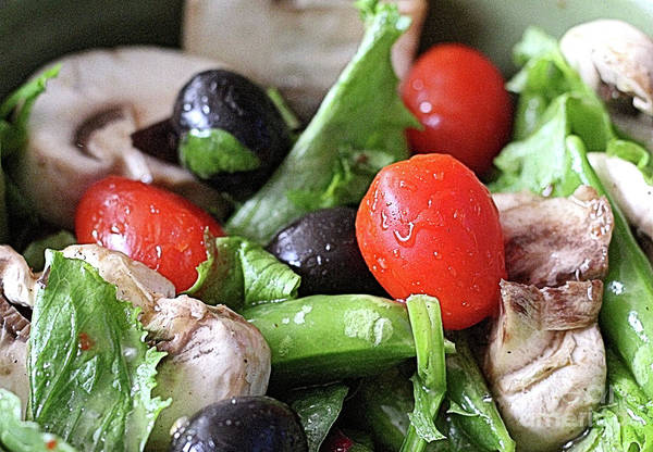 Salad Dressing Photograph - Garden Fresh Salad  by Scott D Van Osdol