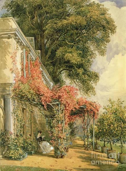 Wall Art - Painting - Garden Front Of Mr Robert Vernon's House At Twickenham by John James Chalon