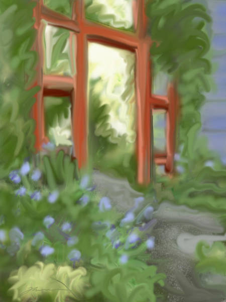Painting - Garden Gate by Jean Pacheco Ravinski