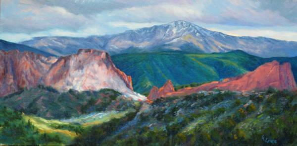 Pikes Peak Painting - Garden Gateway by Gary Gore