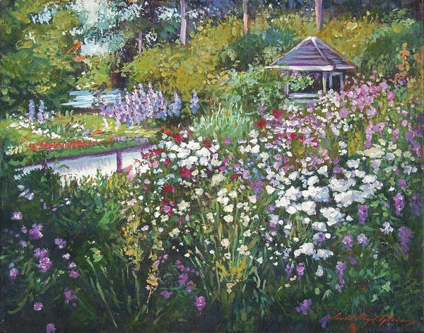 Painting - Garden Gazebo by David Lloyd Glover