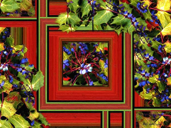 Painting - Garden Geometric by RC DeWinter