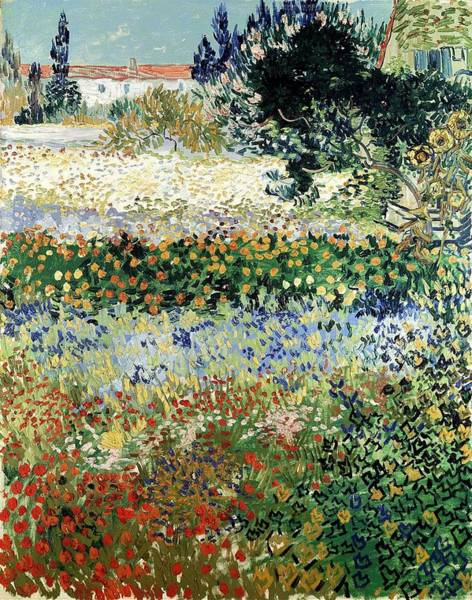 Painting - Garden In Bloom, Arles by Artistic Panda