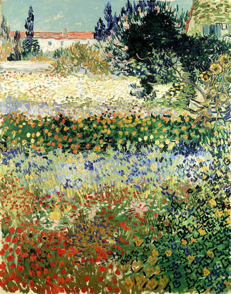 Painting - Garden In Bloom by Van Gogh