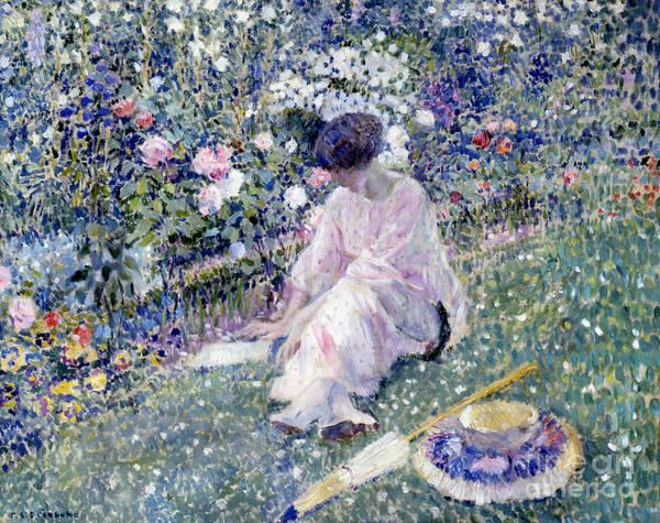 Wall Art - Painting - Garden In June by Frederick Carl Frieseke