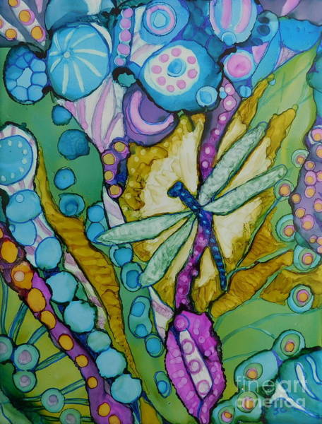 Lone Star Painting - Garden Jewel by Joan Clear