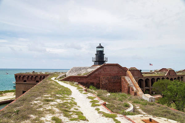 Photograph - Garden Key Light And Fort Jefferson by M C Hood