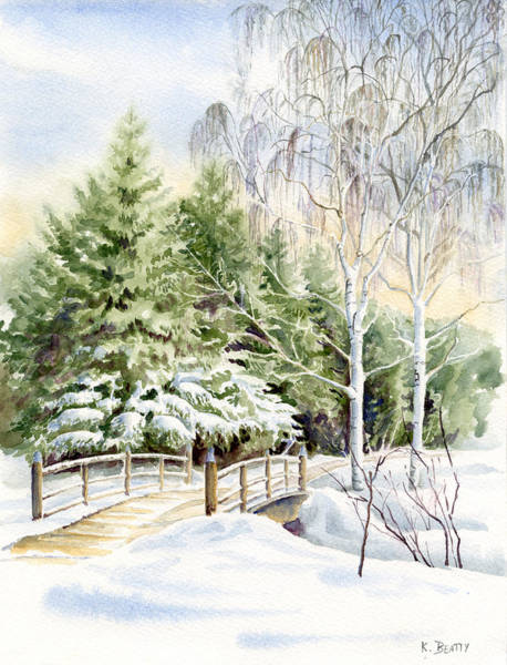 Garden Landscape Winter Art Print