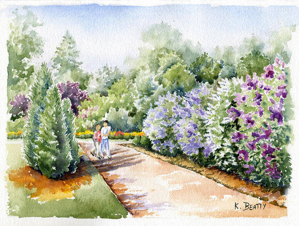 Painting - Garden Lilacs by Karla Beatty
