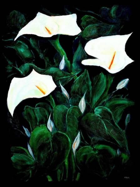 Painting - Garden Lilies by VIVA Anderson