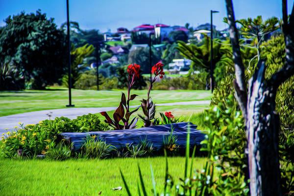 Photograph - Garden Log by Stuart Manning