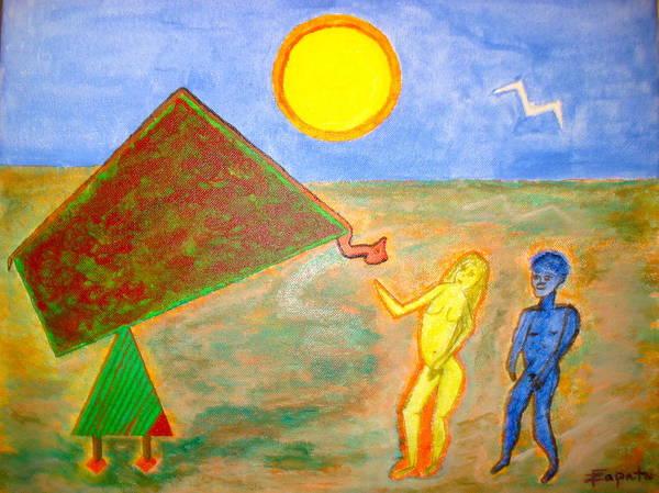 Garden Of Eden-seduction Art Print