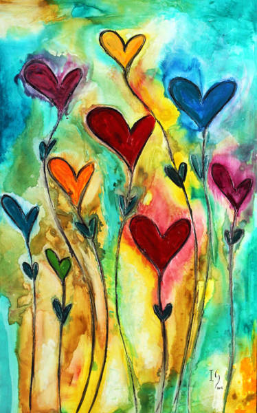 Wall Art - Painting - Garden Of Love by Ivan Guaderrama