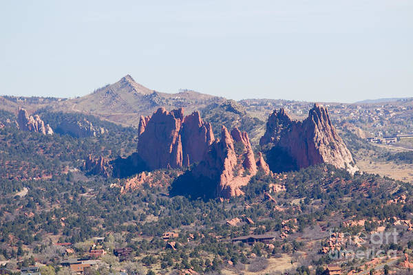 Photograph - Garden Of The Gods And Colorado Springs by Steve Krull