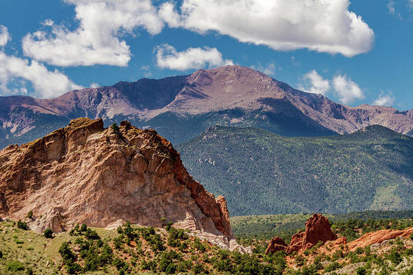 Wall Art - Photograph - Garden Of The Gods And Pikes Peak by Bill Gallagher