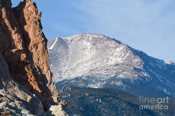 Photograph - Garden Of The Gods And Pikes Peak View by Steve Krull