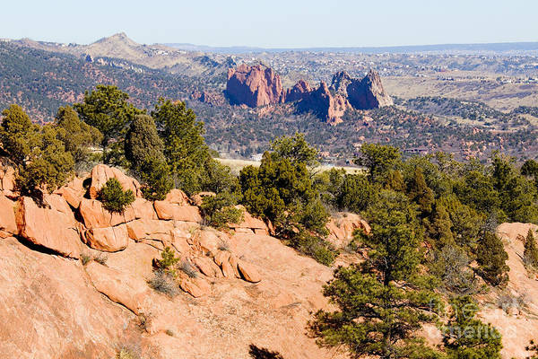 Garden Of The Gods And Springs West Side Art Print