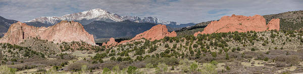 Photograph - Garden Of The Gods Panorama With Pike's Peak by Teresa Wilson