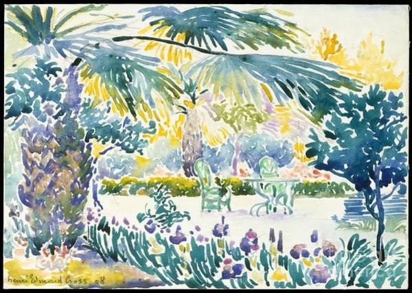 Painting - Garden Of The Painter At Saint Clair by Henri-Edmond Cross