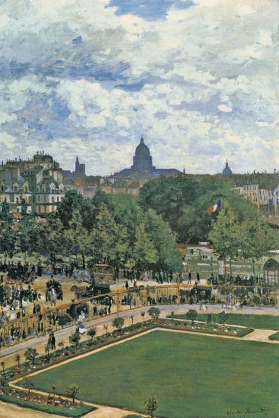 Royal Street Painting - Garden Of The Princess, 1867 by Claude Monet