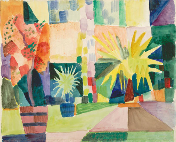 Painting - Garden On Lake Thun by August Macke