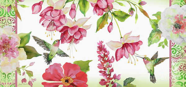 Snap Dragons Wall Art - Painting - Garden Party-d by Jean Plout