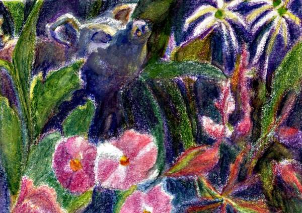Atc Painting - Garden Pig by Jimmie Trotter