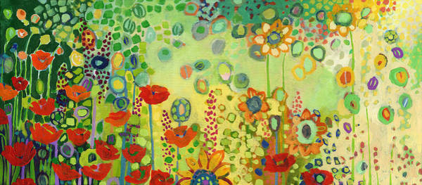 Wall Art - Painting - Garden Poetry by Jennifer Lommers