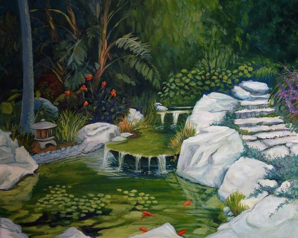 Painting - Garden Retreat by Jeanette Jarmon