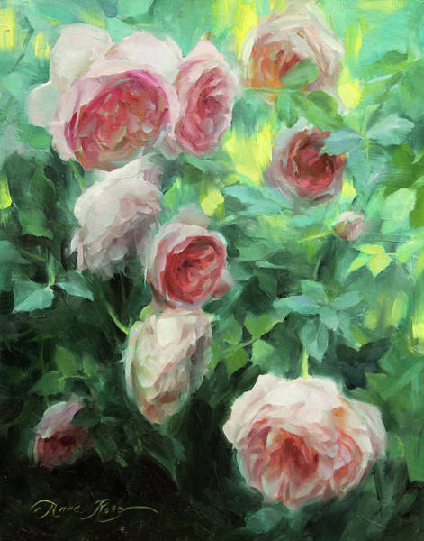 Still-life Painting - Garden Roses by Anna Rose Bain