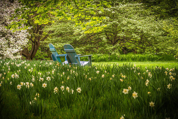 Pa Photograph - Garden Seats by Kristopher Schoenleber