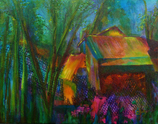 Toolshed Wall Art - Painting - Garden Shed by Claire Bull
