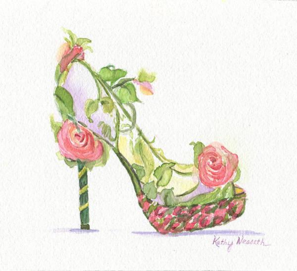 Platform Painting - Garden Shoe by Kathy Nesseth