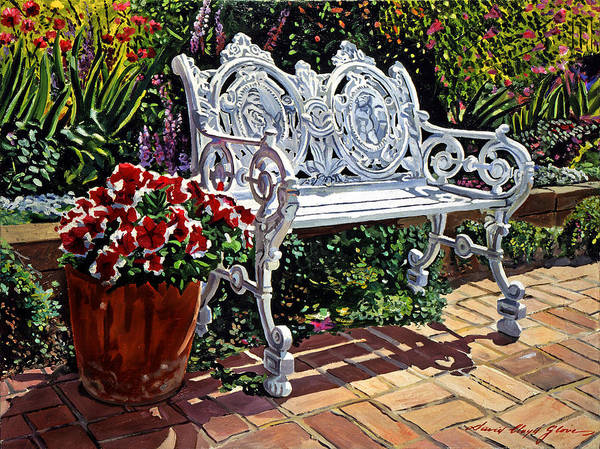 Painting - Garden Sitting Place by David Lloyd Glover