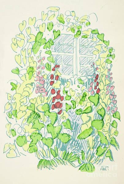 Botanical Garden Drawing - Garden Sketch by German School