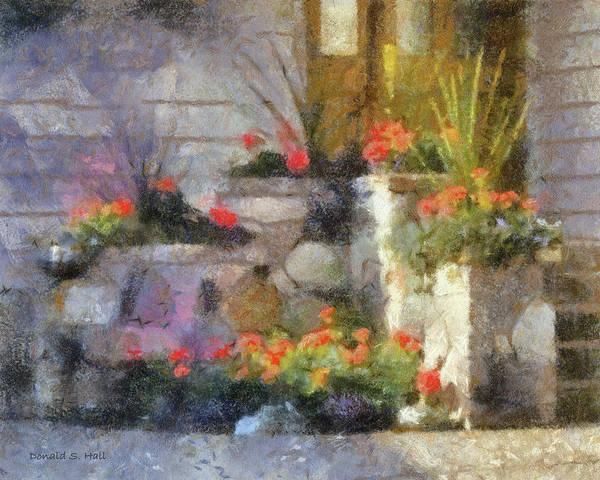 Digital Art - Garden Steps by Donald S Hall