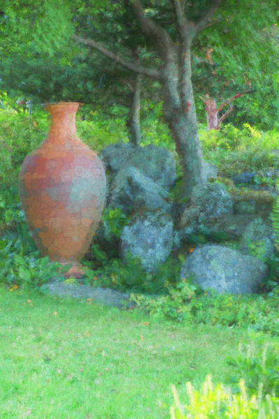 Photograph - Garden Urn by Tom Singleton