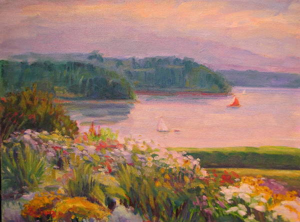Wall Art - Painting - Garden View by Sylvia Carlton