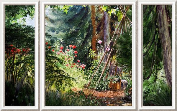 Painting - Garden View Window by Irina Sztukowski