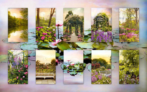 Photograph - Garden Windows Collage by Jessica Jenney