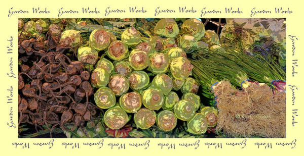 Wall Art - Photograph - Garden Works Veggie Abstract by Kae Cheatham