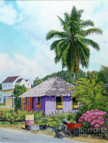 Painting - Gardener Hut by Eddie Minnis