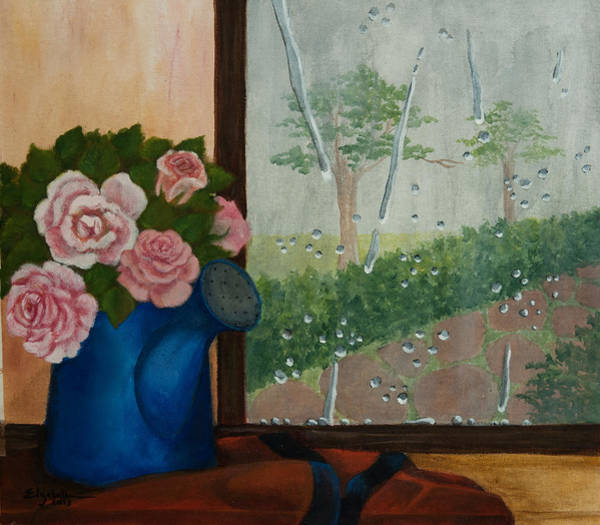 Painting - Gardener's Window by Elizabeth Mundaden