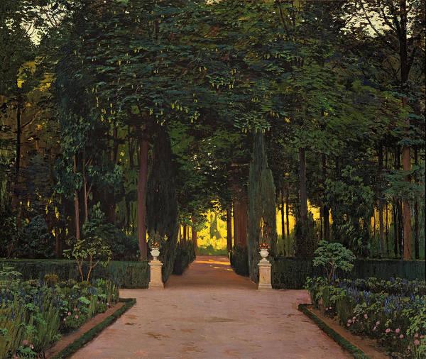 Wall Art - Painting - Gardens At Aranjuez by Santiago Rusinol